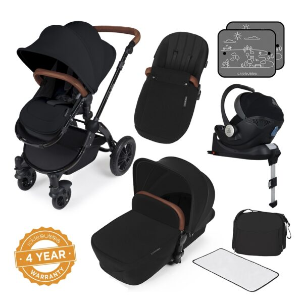 Ickle Bubba Stomp V3 All in One iSize - Black/ Black/Tan 1