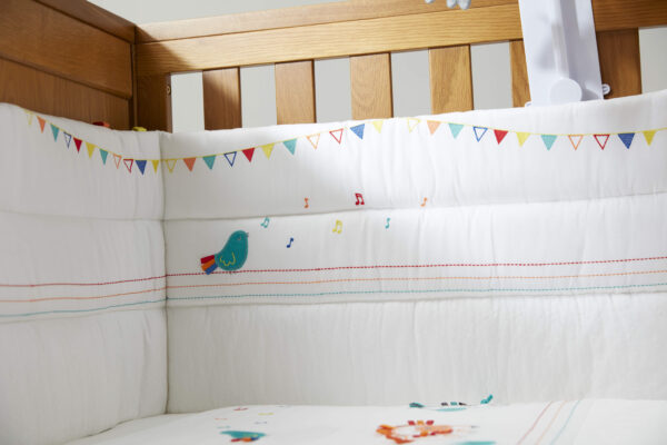 Silver Cross Cot/Cot Bed Bumper - Zoobaloo 1