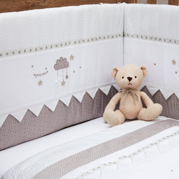 Silver Cross Cot/Cot Bed Bumper - To The Moon and Back 1