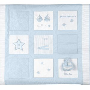 Silver Cross Quilt - Vintage Blue 6