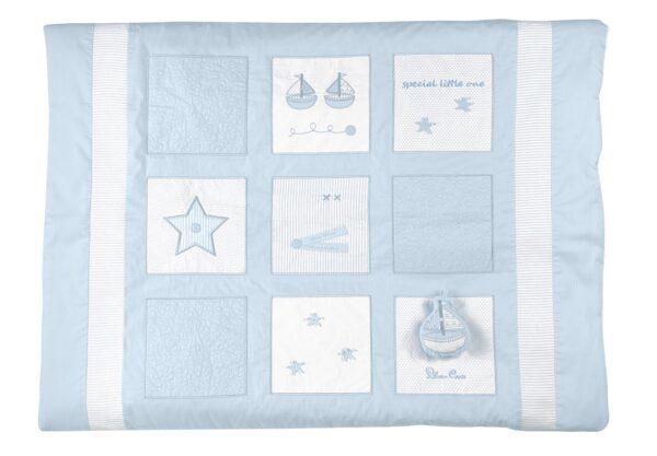Silver Cross Quilt - Vintage Blue 2
