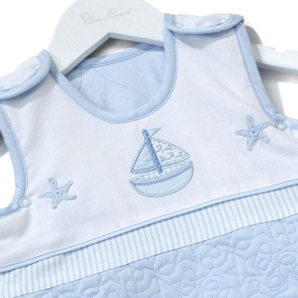 Silver Cross Sleepsuit - Vintage Blue 3