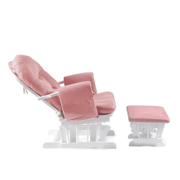 Ickle Bubba Alford Nursing Chair - Blush Pink 4