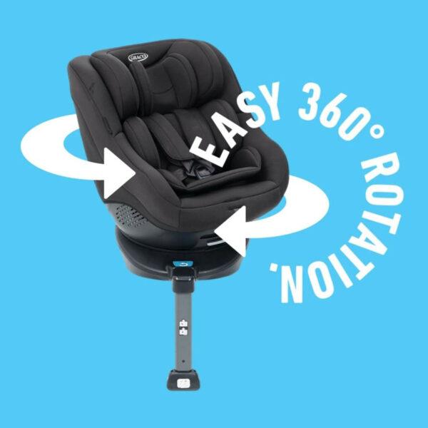 Graco Turn2Me Car Seat - Black 6