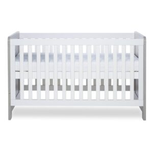 Ickle Bubba Pembrey Cot Bed - Ash Grey and White 8