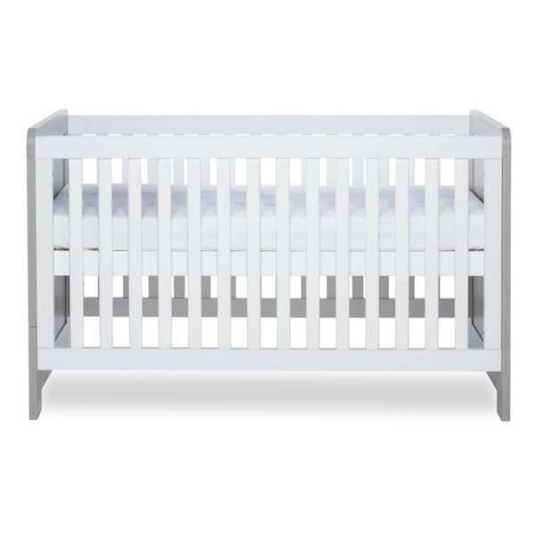 Ickle Bubba Pembrey Cot Bed - Ash Grey and White 2
