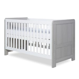 Ickle Bubba Pembrey Cot Bed - Ash Grey and White 11