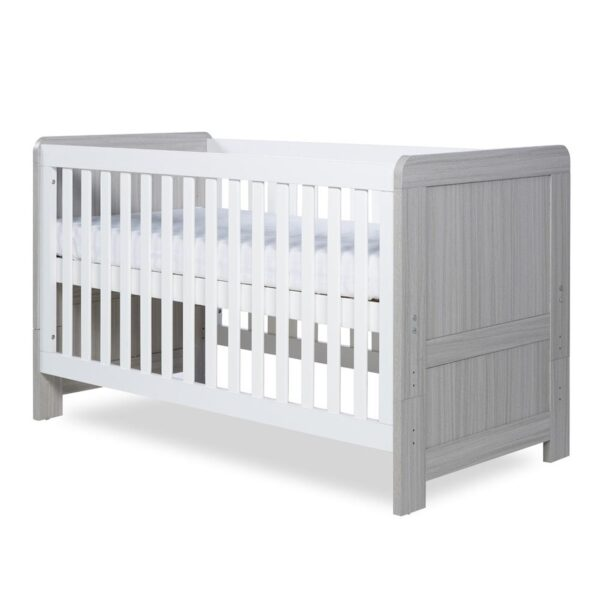 Ickle Bubba Pembrey Cot Bed - Ash Grey and White 5