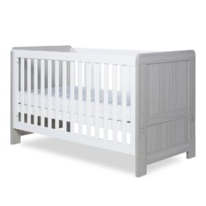Ickle Bubba Pembrey Cot Bed - Ash Grey and White 10