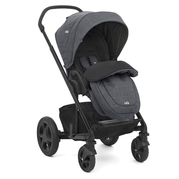 Joie Chrome DLX Pushchair and Carrycot inc. Footmuff - Pavement 1