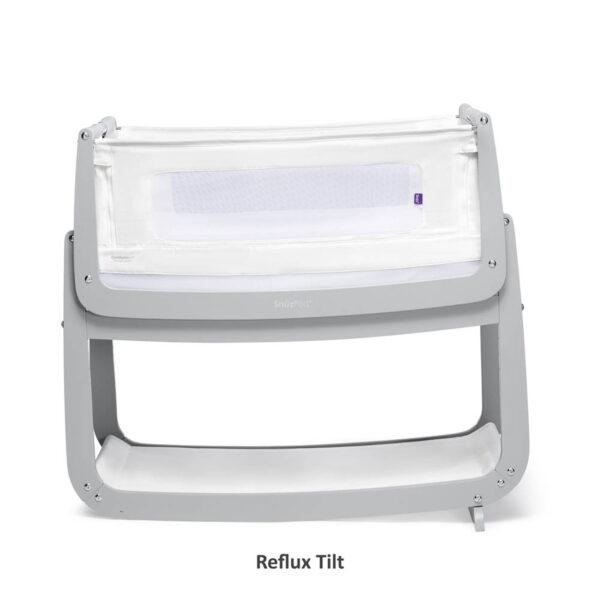 SnuzPod 4 Bedside Crib with Mattress - Dove Grey 4
