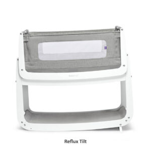 SnuzPod 4 Bedside Crib with Mattress - Dusk Grey 11
