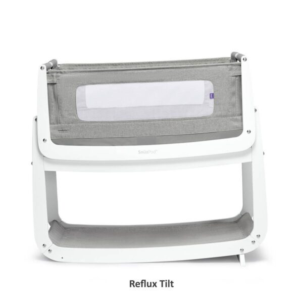 SnuzPod 4 Bedside Crib with Mattress - Dusk Grey 4