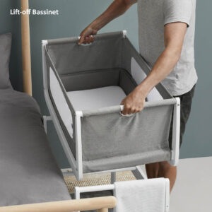 SnuzPod 4 Bedside Crib with Mattress - Dusk Grey 12