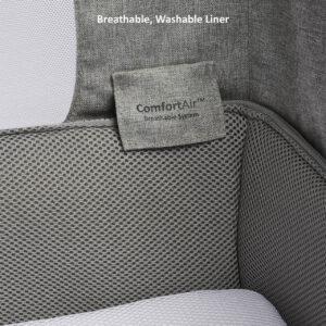 SnuzPod 4 Bedside Crib with Mattress - Dusk Grey 13
