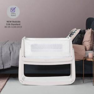 SnuzPod 4 Bedside Crib with Mattress - Rose White 10