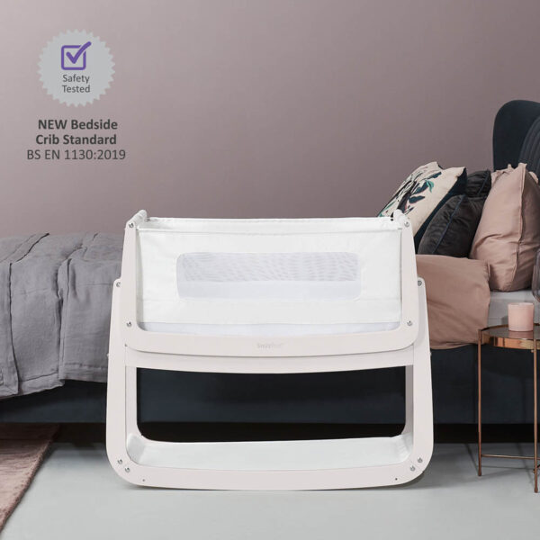 SnuzPod 4 Bedside Crib with Mattress - Rose White 3