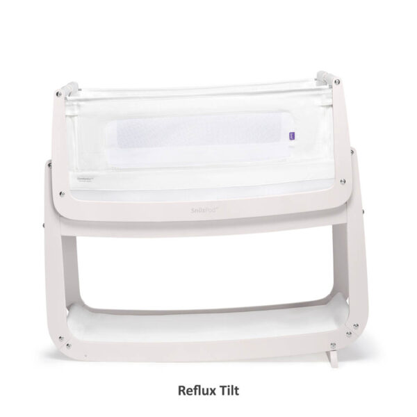 SnuzPod 4 Bedside Crib with Mattress - Rose White 4