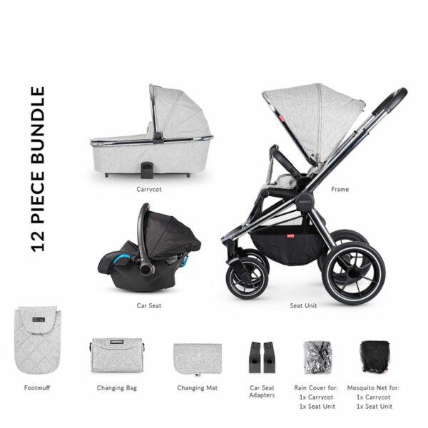 Venicci Tinum 2 Travel System - City Grey 6