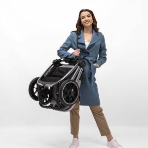Venicci Tinum 2 Travel System inc. ULTRALITE Car Seat - City Grey 8