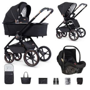 Venicci Tinum 2 Travel System inc. ULTRALITE Car Seat - Special Edition Stylish Black 10