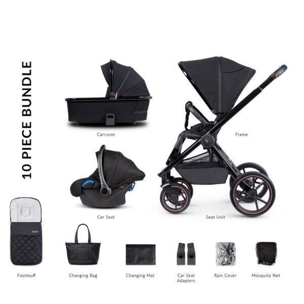 Venicci Tinum 2 Travel System - Special Edition Stylish Black 5