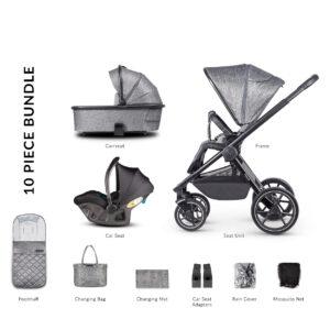 Venicci Tinum 2 Travel System inc. ULTRALITE Car Seat - Magnetic Grey 7