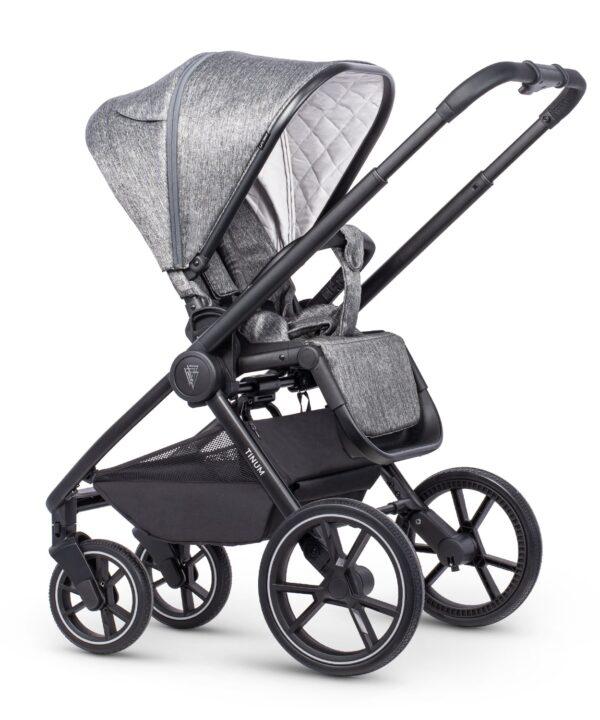 Venicci Tinum 2 Travel System inc. ULTRALITE Car Seat - Magnetic Grey 1