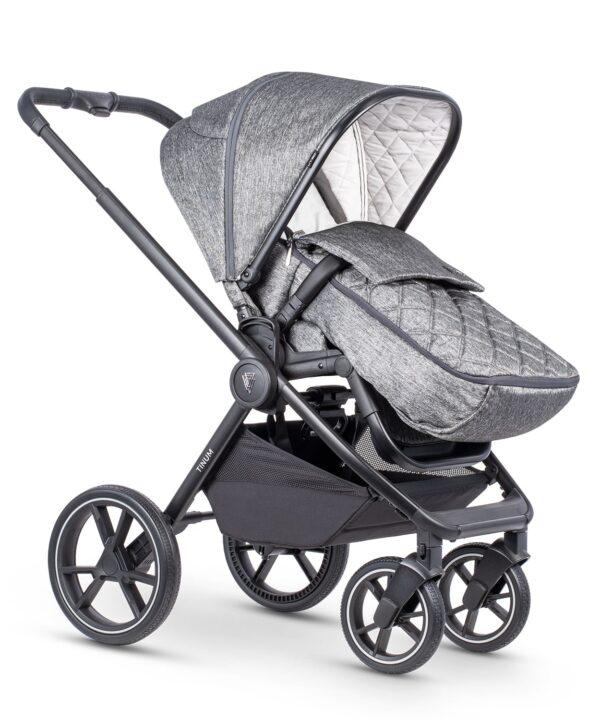 Venicci Tinum 2 Travel System inc. ULTRALITE Car Seat - Magnetic Grey 5