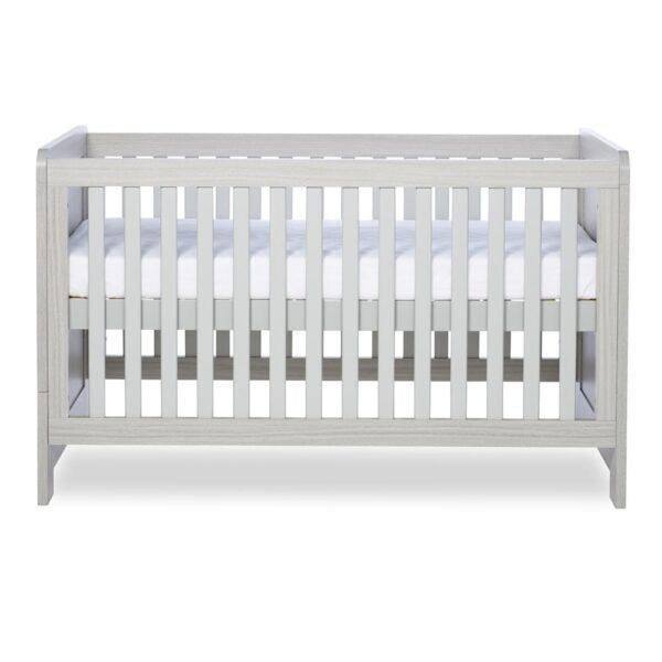 Ickle Bubba Pembrey Cot Bed & Dresser - Ash Grey 2
