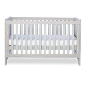 Ickle Bubba Pembrey Cot Bed & Dresser - Ash Grey 7