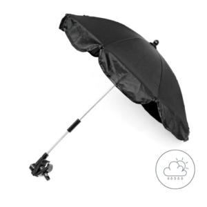 Black Universal Waterproof Parasol 4