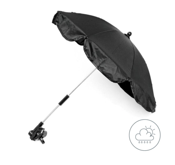Black Universal Waterproof Parasol 1