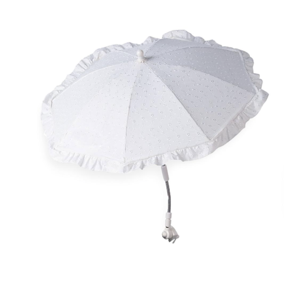 White Universal Broderie Anglaise Parasol 1