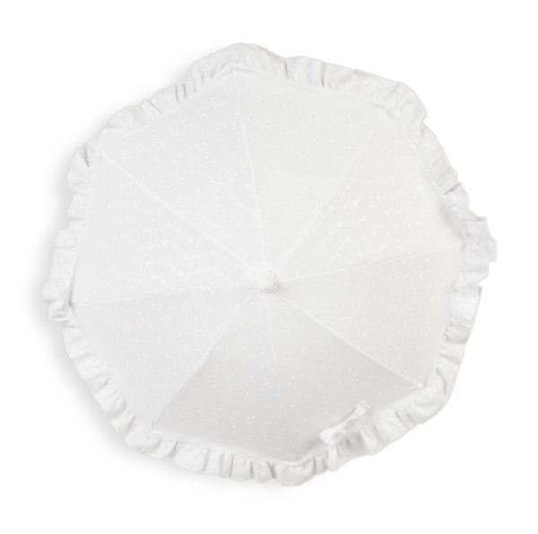 White Universal Broderie Anglaise Parasol 2