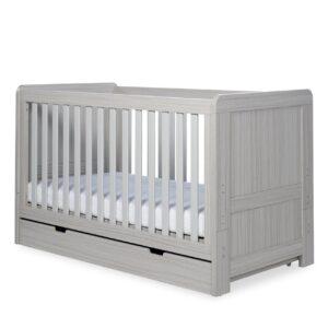 Ickle Bubba Pembrey 3 Piece Furniture Set & Under Bed Drawer - Ash Grey 8
