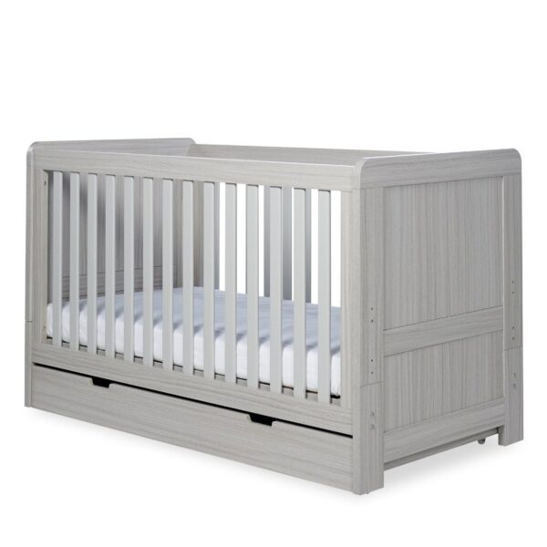 Ickle Bubba Pembrey 3 Piece Furniture Set & Under Bed Drawer - Ash Grey 4