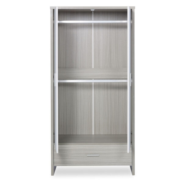 Ickle Bubba Pembrey 4 Piece Furniture Set & Under Bed Drawer - Ash Grey & White Trend 1