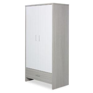 Ickle Bubba Pembrey 4 Piece Furniture Set & Under Bed Drawer - Ash Grey & White Trend 8