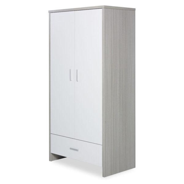 Ickle Bubba Pembrey 4 Piece Furniture Set & Under Bed Drawer - Ash Grey & White 2