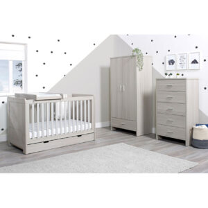 Ickle Bubba Pembrey 4 Piece Furniture Set & Under Bed Drawer - Ash Grey 12