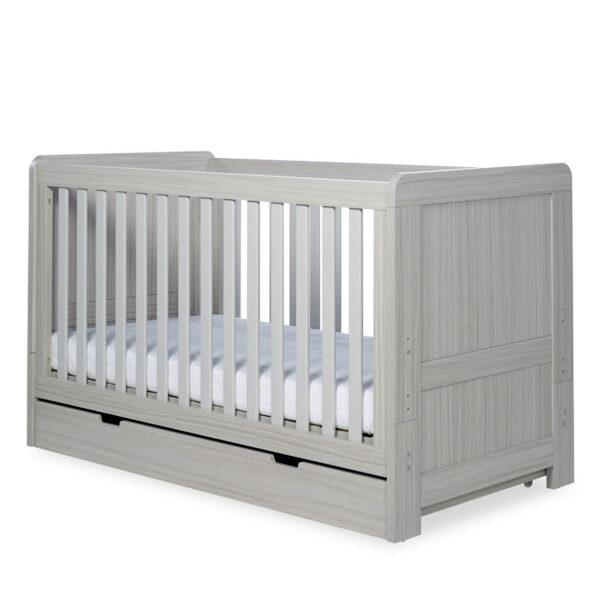 Ickle Bubba Pembrey 4 Piece Furniture Set & Under Bed Drawer - Ash Grey 5