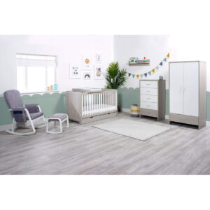 Ickle Bubba Pembrey 9 Piece Furniture Bundle - Ash Grey & White Trend 18