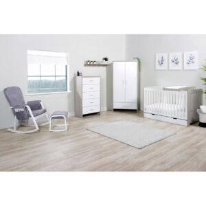 Ickle Bubba Pembrey 9 Piece Furniture Bundle - Ash Grey & White 18