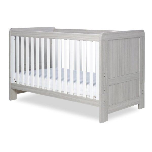 Ickle Bubba Pembrey Cot Bed & Dresser - Ash Grey & White Trend 7