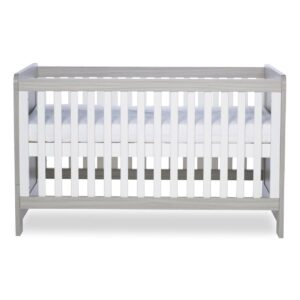 Ickle Bubba Pembrey Cot Bed & Dresser - Ash Grey & White Trend 10