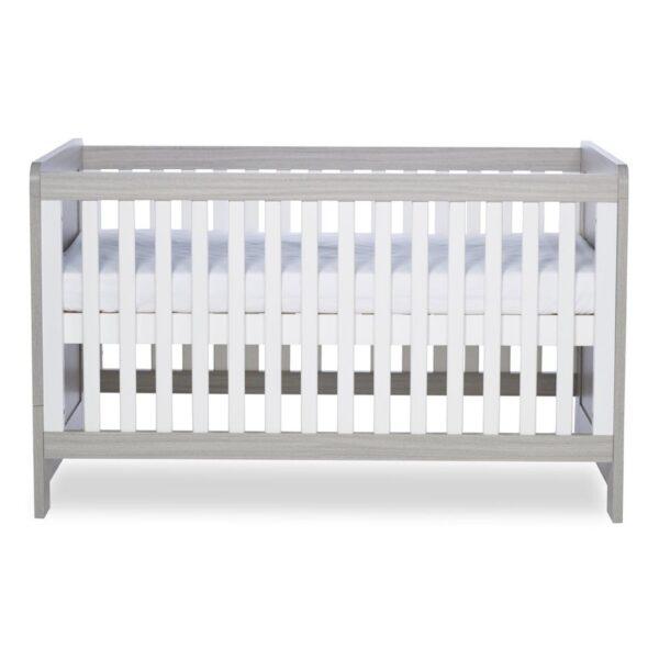 Ickle Bubba Pembrey Cot Bed & Dresser - Ash Grey & White Trend 3