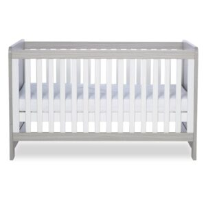 Ickle Bubba Pembrey Cot Bed & Dresser - Ash Grey & White Trend 9