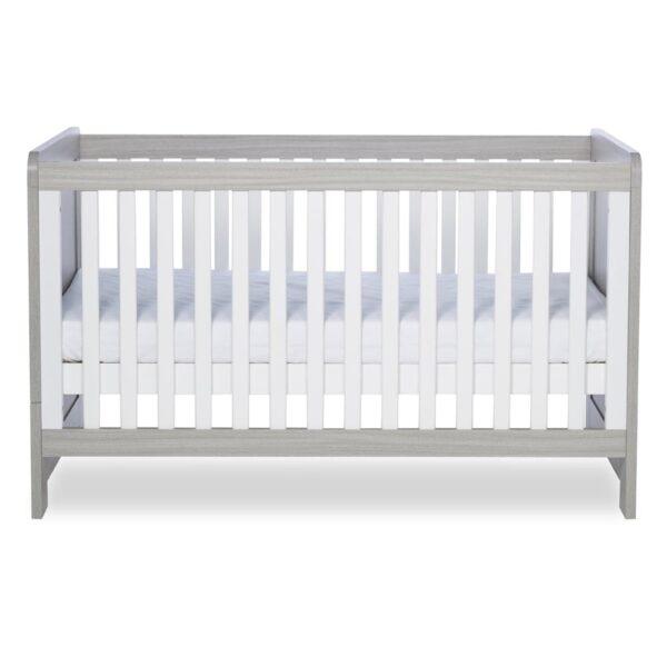 Ickle Bubba Pembrey Cot Bed & Dresser - Ash Grey & White Trend 2