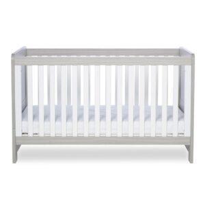 Ickle Bubba Pembrey Cot Bed & Dresser - Ash Grey & White Trend 8